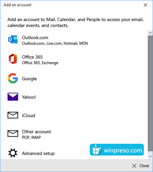 3 email windows 10