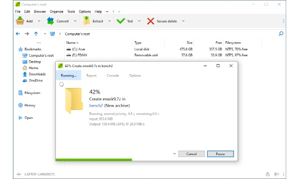 peazip, Aplikasi Kompres dan Ekstrak File (Archiver) Terbaik di Windows 10
