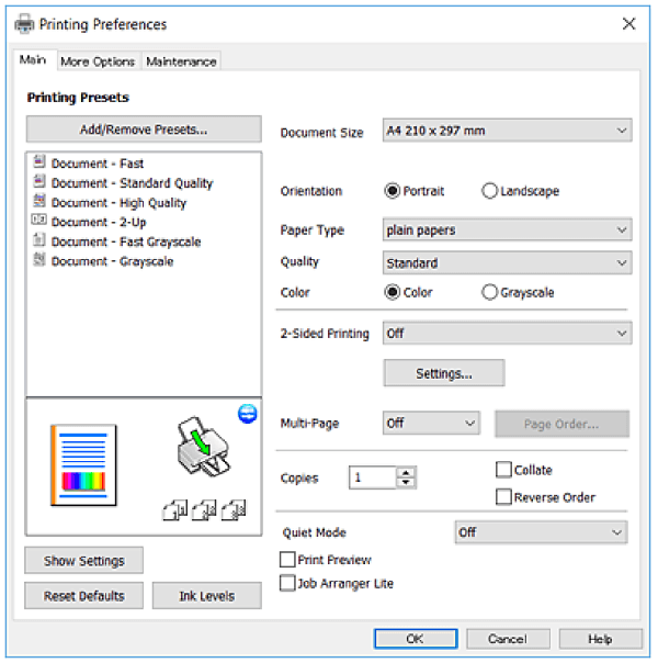 cara setting printer epson l3110