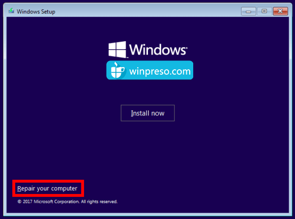 cara mengatasi Your PC Device needs to be repaired 1