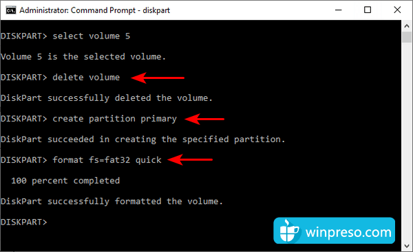 cara mengatasi windows was unable to complete the format 11