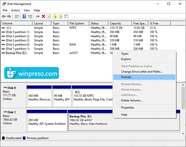 cara mengatasi windows was unable to complete the format 3